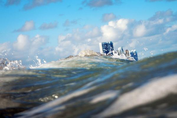 Miami sinking under the waves